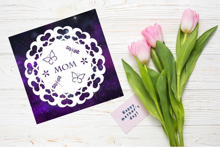 Mom Papercut Template