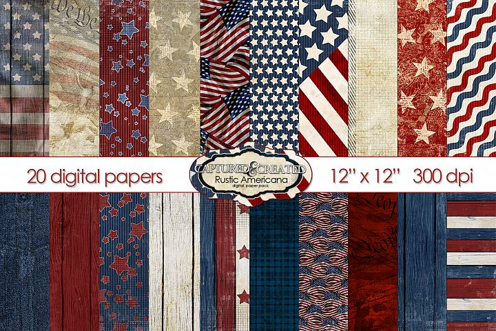 Rustic Americana-20 Papers