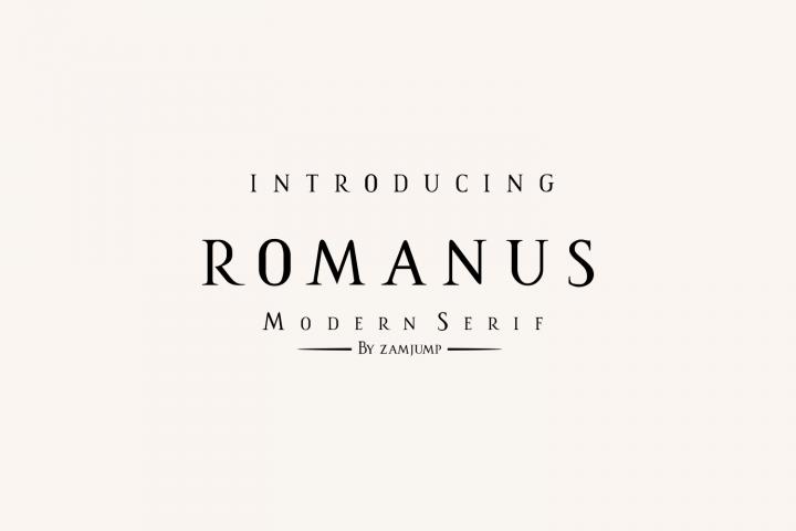 Romanus romance serif