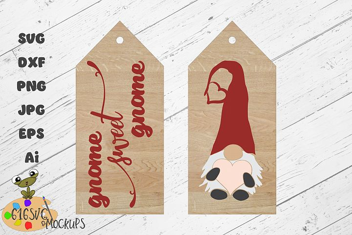 Valentines Gnome Sweet Gnome SVG