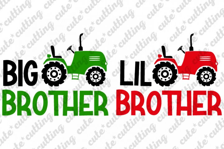 Big brother, Lil brother, tractor, svg, dxf, png, pdf, jpeg