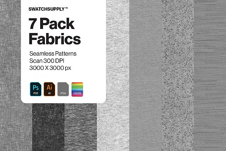 7 Pack Fabric Seamless Patterns