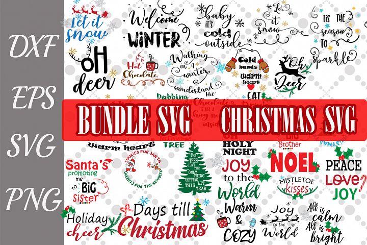 Christmas Bundle Svg, CHRISTMAS SVG, Winter Quotes