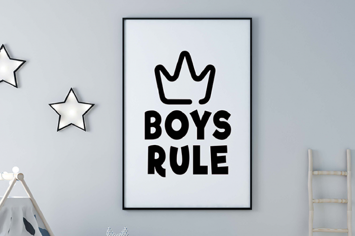 Boys Rule SVG- Playroom Sign SVG PNG DFX