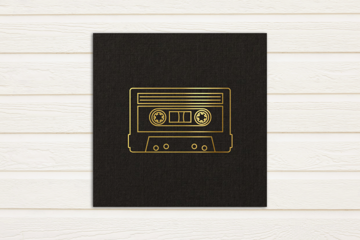 Mix Tape SKETCH Single Line Drawing SVG File