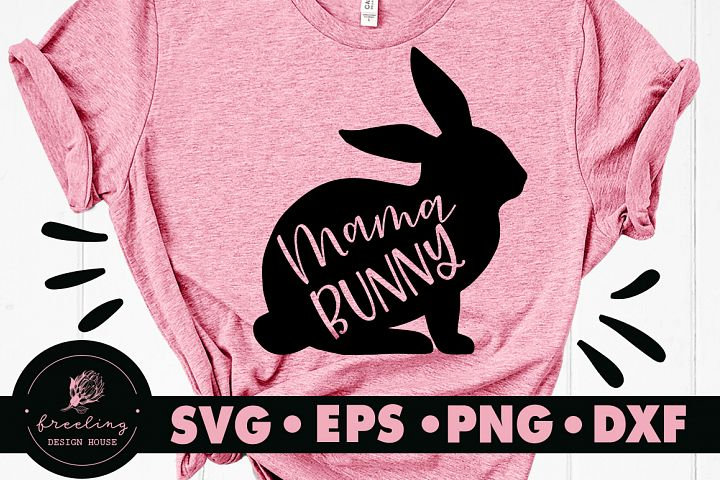 Mama Bunny SVG DXF EPS PNG