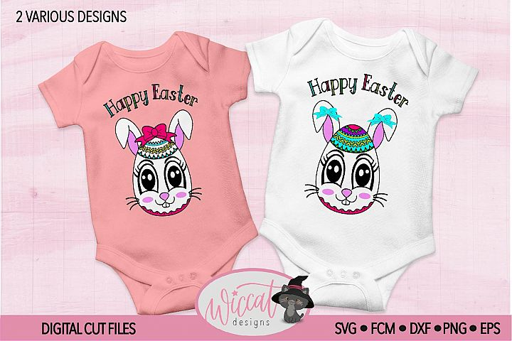 Easter Bunny face svg, Girl bunny face svg cut file
