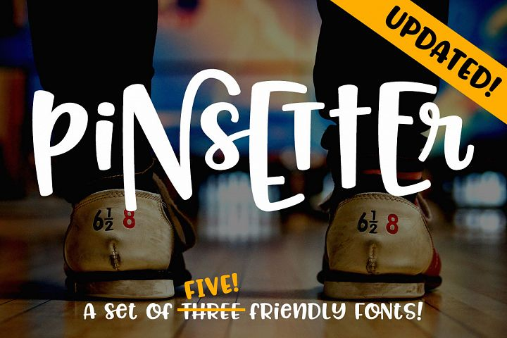 Pinsetter - three fun fonts!