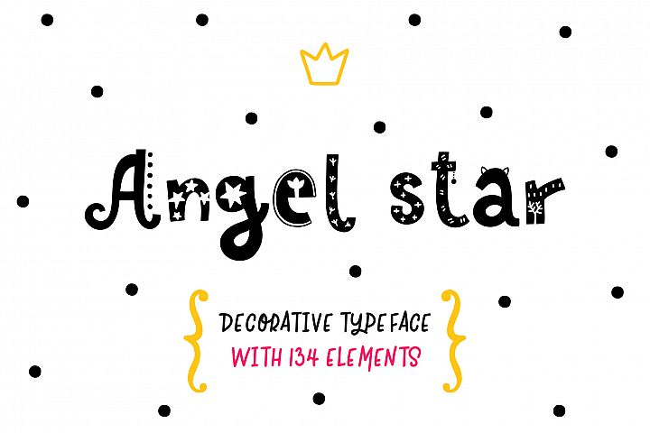 Angel Star - Decorative Typeface