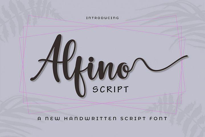 Alfino Script