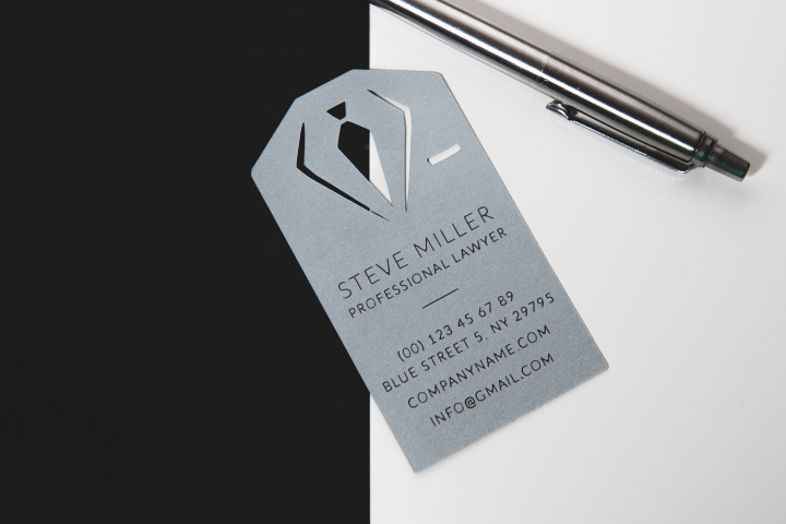 Lawyer business card template cutting file