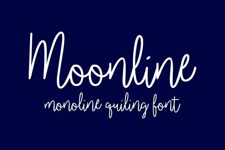 Moonline Single-line and hairline fonts