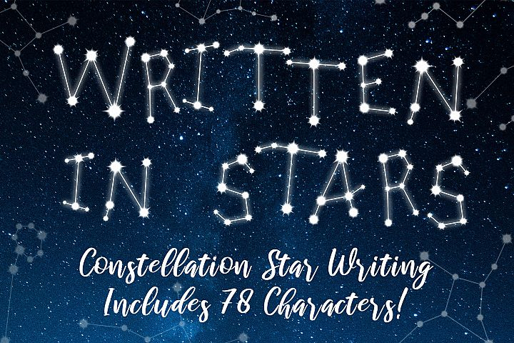 Written in Stars Constellation Writing/Letters