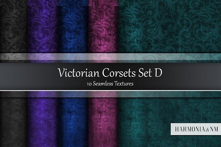 Victorian Corsets Set D Velvet Damask 10 Seamless Textures