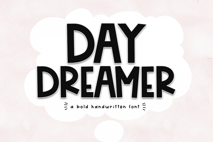 Day Dreamer - A Bold & Cute Handwritten Font