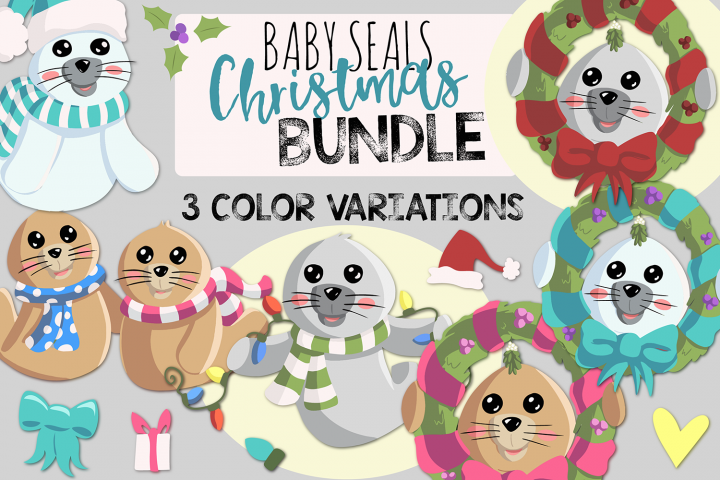 Baby Seals Christmas BUNDLE