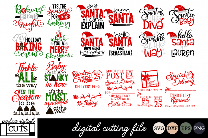The BIG Christmas SVG Bundle - SVG, EPS, DXF, PNG For Crafts