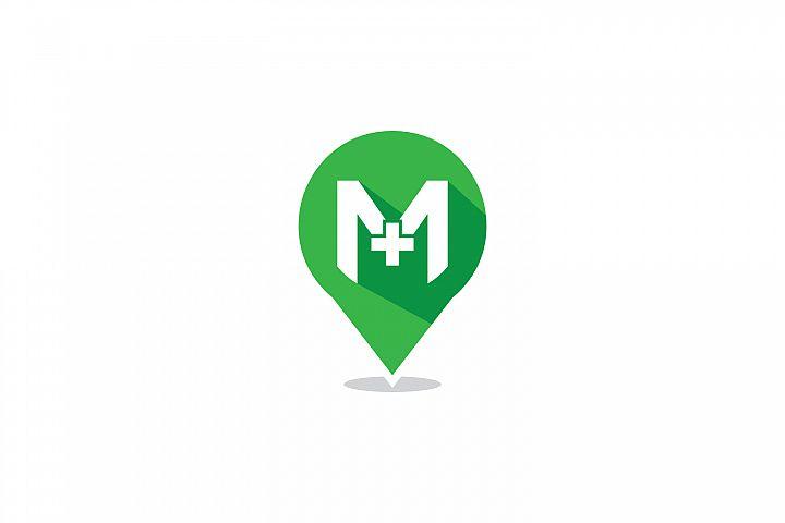 m letter hospital locator logo