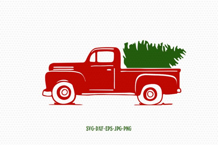 Retro vintage christmass Truck svg, holiday christmas svg