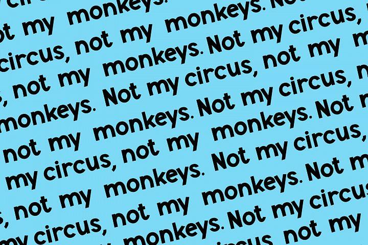 Monkey Mayhem - A fun and playful font example 3