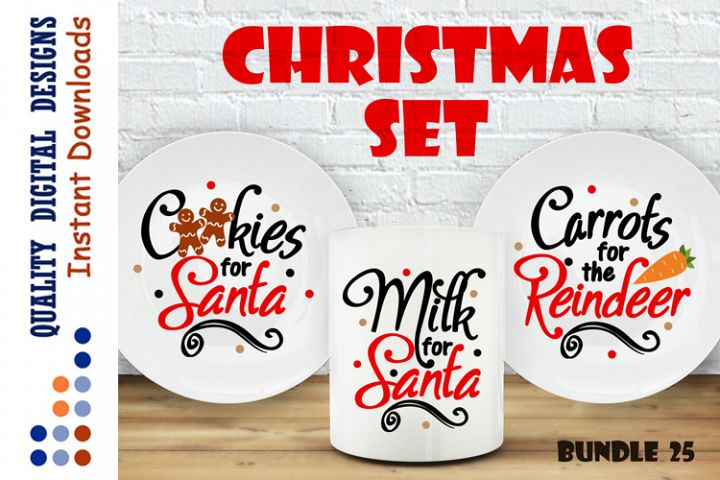 BUNDLE Cookies for Santa svg Milk For Santa svg