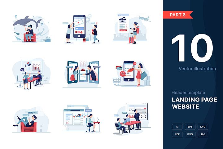 Website illustrations set - Part 06