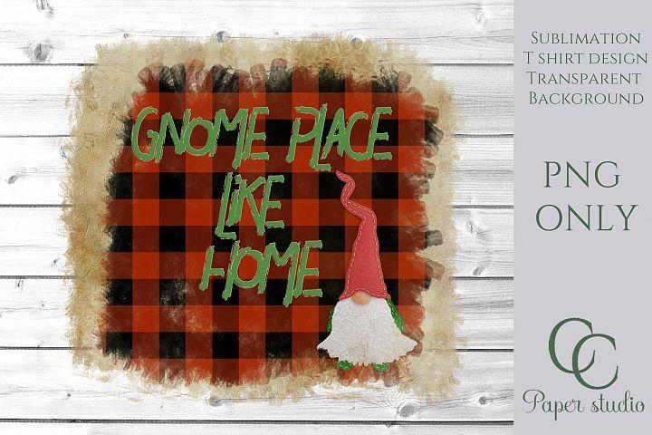 Farmhouse style gnome sublimation background