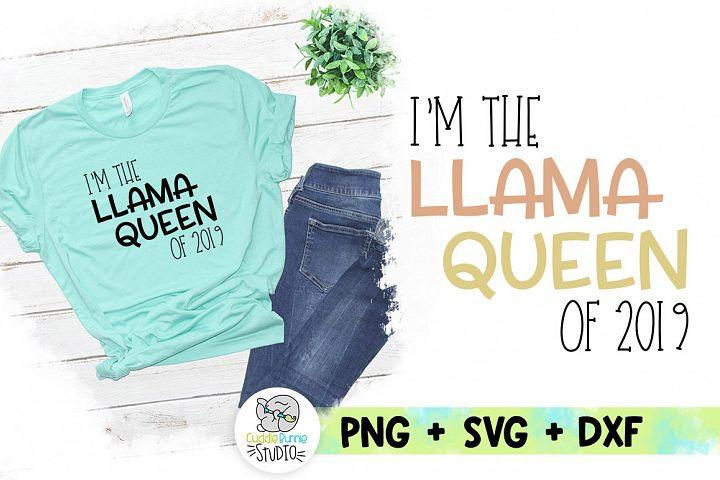 llama Queen 2019 SVG| Queen Llama| Simple Sublimation Design