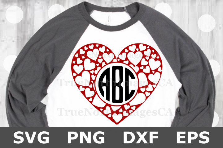Heart Monogram - A Valentine SVG Cut File