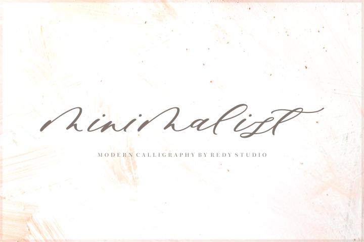 Minimalist Script Font