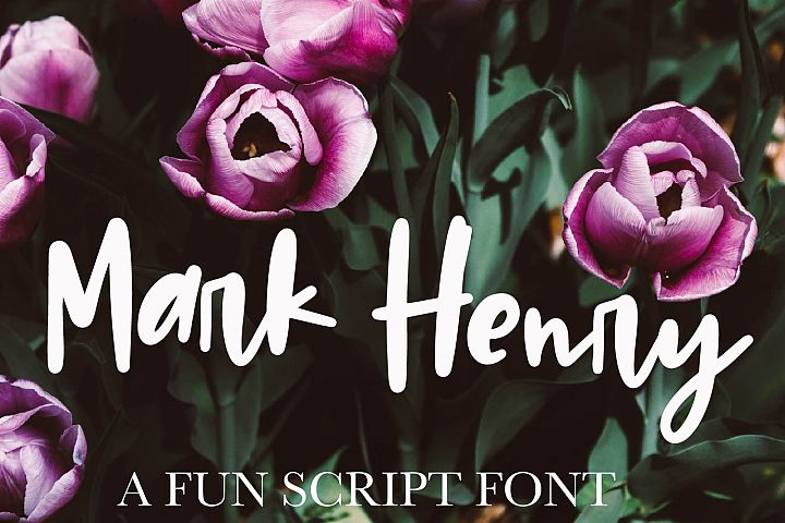 Mark Henry - A thick signature font