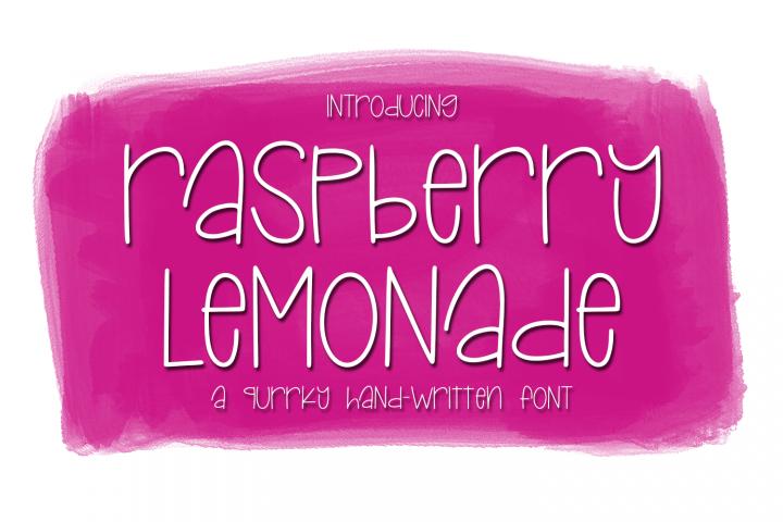 Raspberry Lemonade - A Quirky Hand-Written Font