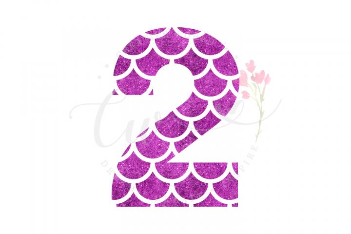 My 2nd Birthday Mermaid SVG | Mermaid Birthday Girl svg