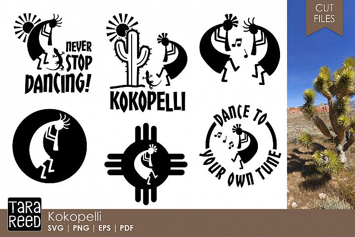 Kokopelli SVG and Cut Files for Crafters