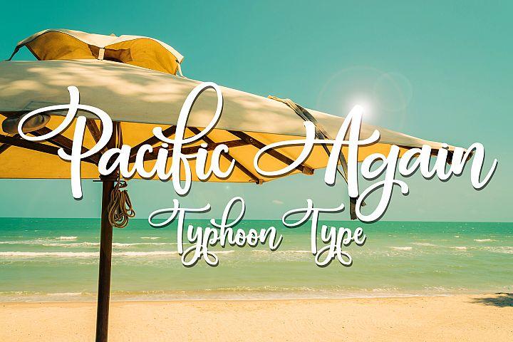 Pacific Again font