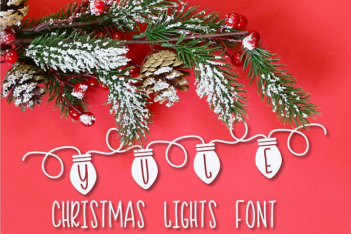 YULE - Christmas Lights Font