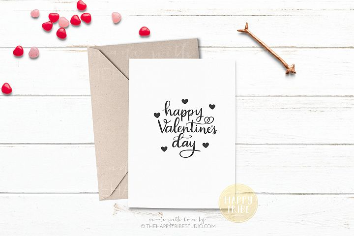 Valentines Card Mockup | Invitation Mockup