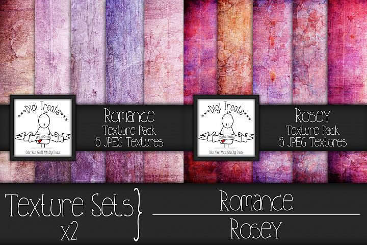 Texture Sets x2. Romance and Rosey.
