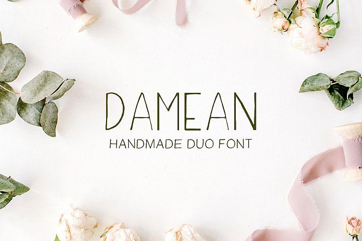 Damean Handmade Duo Font example image 1