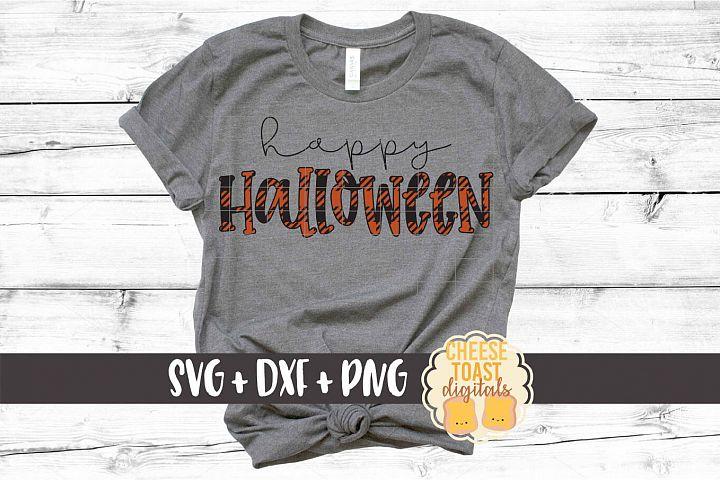 Happy Halloween - Buffalo Plaid SVG PNG DXF Cut Files