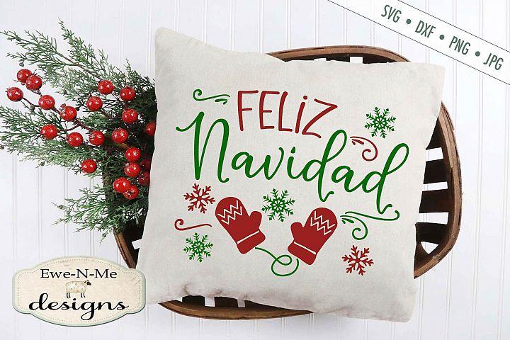 Feliz Navidad - Christmas - Mittens - SVG DXF