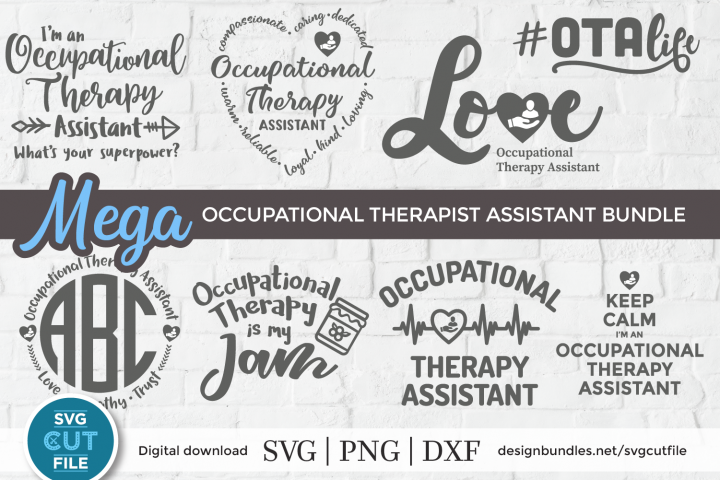 Occupational Therapy Assistant svg bundle, OTA svg bundle