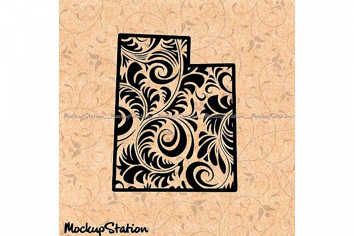 Utah Mandala SVG, UT Decor Floral Paisley PNG Cut File