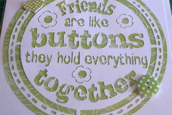 Friends are like buttons they hold everything together