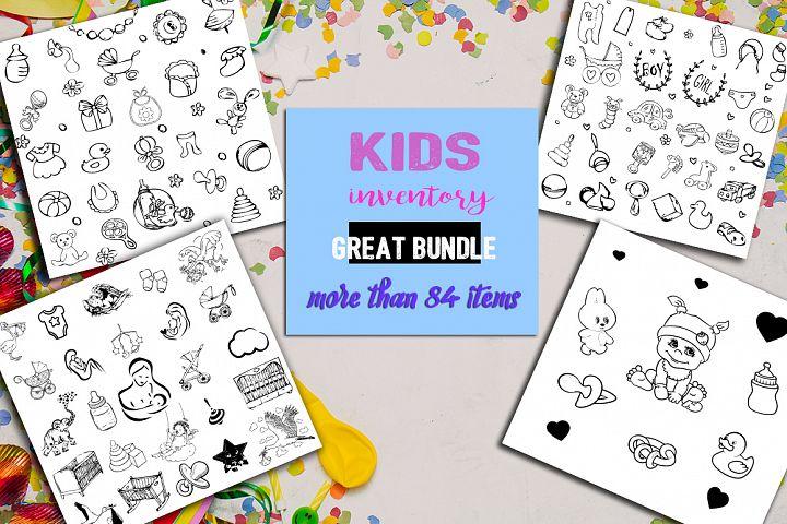 Baby / kids logo. Great bundle