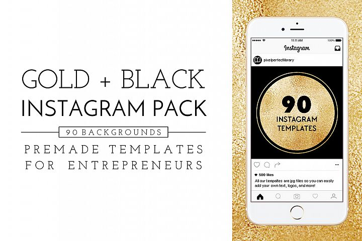 Gold and Black Instagram Pack
