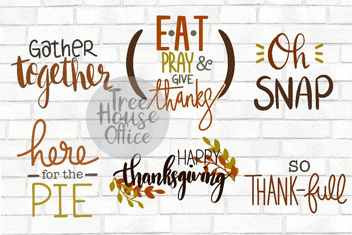 Happy Thanksgiving Bundle Fall Give Thanks SVG PNG DXF JPEG