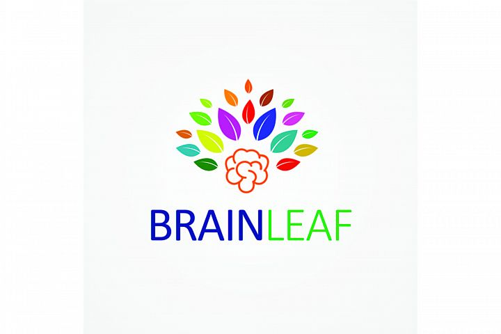Brain Leaf Logo Template