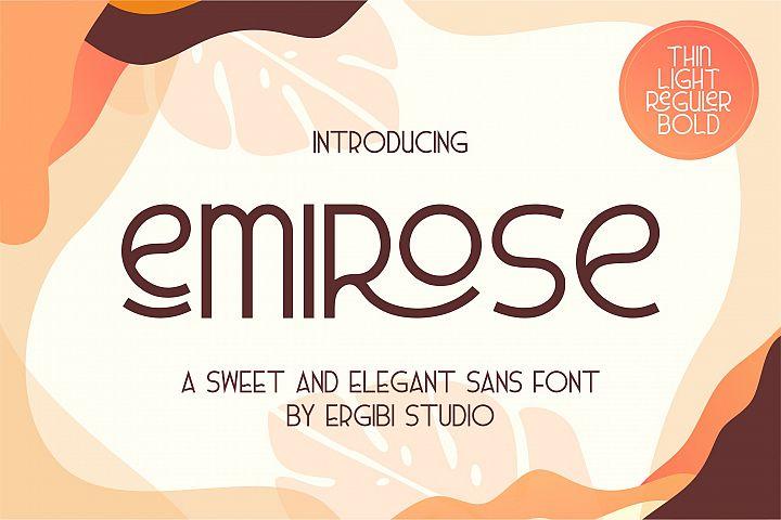 Emirose  Sweet&ElegantFont 