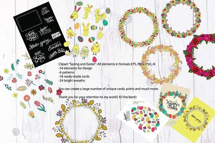 Vector clipart Spring and Easter